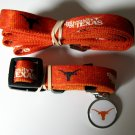 University Of Texas Longhorns Pet Dog Set Leash Collar ID Tag Medium