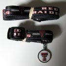 Texas Tech University Red Raiders Pet Dog Set Leash Collar ID Tag Large