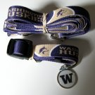 University Of Washington Huskies Pet Dog Set Leash Collar ID Tag Small
