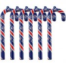 New York Rangers Candy Cane Christmas Tree Ornament Set Gift