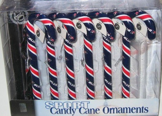 Columbus Blue Jackets Candy Cane Christmas Tree Ornament Set Gift