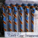 Atlanta Thrashers Candy Cane Christmas Tree Ornament Set Gift
