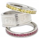 Kansas City Chiefs Team Crystal Stacked Rings Set