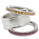 Washington Redskins Team Crystal Stacked Rings Set