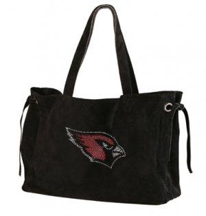 Arizona Cardinals Suede and Crystals Tote Bag Purse