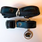 Jacksonville Jaguars Pet Dog Leash Set Collar ID Tag Gift Size Small