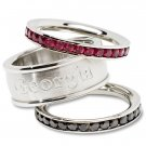 University of Georgia Bulldogs Team Crystal Stacked Rings Set
