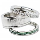 Boston Celtics Team Crystal Stacked Rings Set