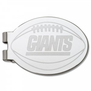 New York Giants Silver Plated Laser Etched Football Money Clip