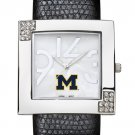 University of Michigan Wolverines Glamour Ladies Fashion Watch