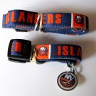 New York Islanders Pet Dog Leash Set Collar ID Tag Size Small