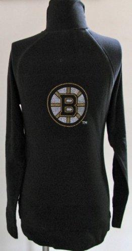 Boston Bruins Ice It Crystals Women's Zip Up Jacket NHL Large