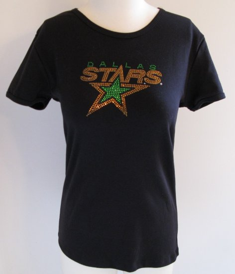 Dallas Stars Ice It Crystals Women's Shirt Babydoll Tee Large