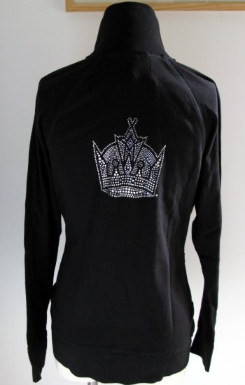 Los Angeles Kings Ice It Crystals Women's Zip Up Jacket Large