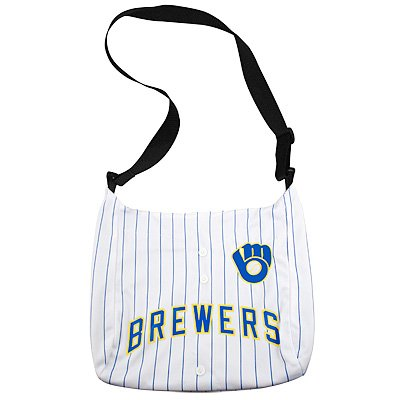 Milwaukee Brewers Littlearth Baseball Jersey Tote Bag Purse