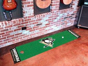 Pittsburgh Penguins Golf Putting Green Mat Carpet Runner