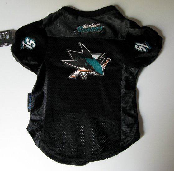 San Jose Sharks Pet Dog Hockey Jersey Premium Medium