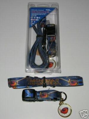 Atlanta Thrashers Pet Dog Leash Set Collar ID Tag Gift Size Medium