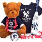 New York Yankees New Baby Boy Gift Set Basket