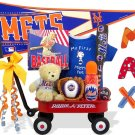 New York Mets Baby Boy Radio Flyer Wagon Gift Assort.