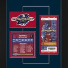 Los Angeles Angels 2002 World Series Replica Ticket & Patch Frame