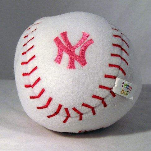 New York Yankees Baby Team Ball Plush Baseball Toy Gift PINK