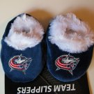Columbus Blue Jackets Fuzzy Baby Slippers Booties 12-24 Months
