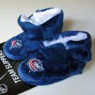 Columbus Blue Jackets Fuzzy Baby High Boot Slippers 12-24 Months