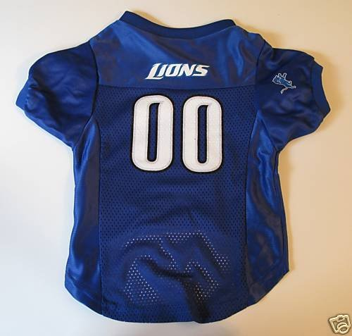 Detroit Lions Pet Dog Football Jersey Premium Gift Medium