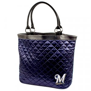Milwaukee Brewers Littlearth Quilted Tote Bag Purse
