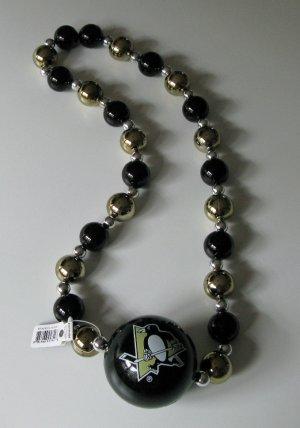 Pittsburgh Penguins Big Beads Necklace w/ Big Team Logo Ball