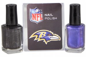 Baltimore Ravens Team Color Nail Polish Set