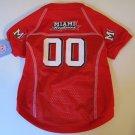Miami of Ohio University Redhawks Pet Dog Football Jersey Small