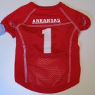 Arkansas University Razorbacks Pet Dog Football Jersey Large