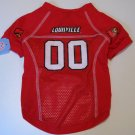 Louisville University Cardinals Pet Dog Football Jersey Large