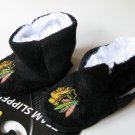 Chicago Blackhawks Fuzzy Baby High Boot Slippers 3-6 Months