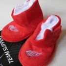 Detroit Red Wings Fuzzy Baby High Boot Slippers 3-6 Months