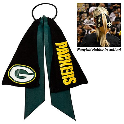 Green Bay Packers Ponytail Holder Hair Tie Ribbon Cute