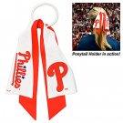 Philadelphia Phillies Littlearth Ponytail Holder Hair Tie Ribbon
