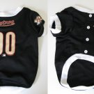 Houston Astros Pet Dog Baseball Jersey w/Buttons Medium