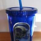 St. Louis Rams 16oz Blue Travel Cup Tumbler w/Straw No Spill Lid NO BPA