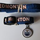 Edmonton Oilers Pet Dog Leash Set Collar ID Tag Gift Size Large