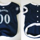 Seattle Mariners Pet Dog Baseball Jersey w/Buttons Large