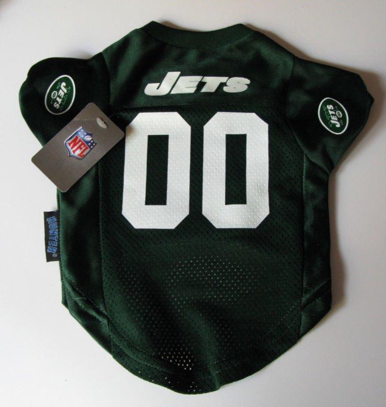 New York Jets Pet Dog Football Jersey Premium Medium