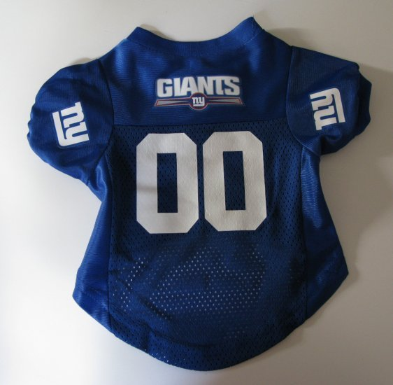 New York Giants Pet Dog Football Jersey Premium Large