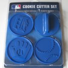 Detroit Tigers Logo Glove Baseball Cookie Cutter Set