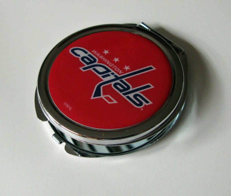 Washington Capitals Ladies Compact Mirror w/Floral Design