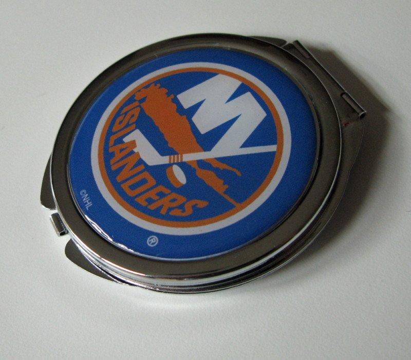 New York Islanders Ladies Compact Mirror w/Floral Design
