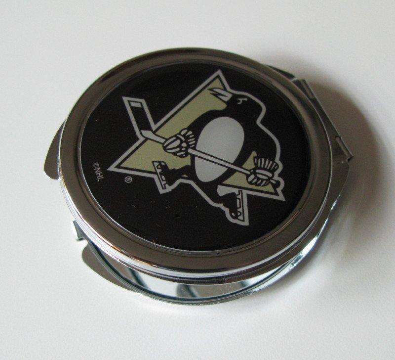 Pittsburgh Penguins Ladies Compact Mirror w/Floral Design