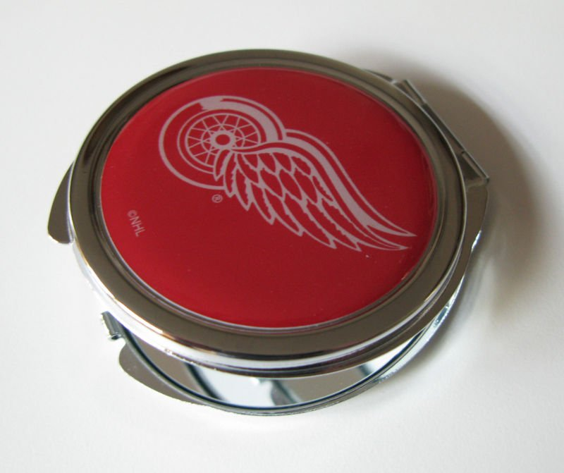 Detroit Red Wings Ladies Compact Mirror w/Floral Design